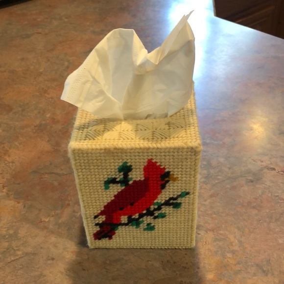 Vintage Hand Crafted Boutique Tissue box cover